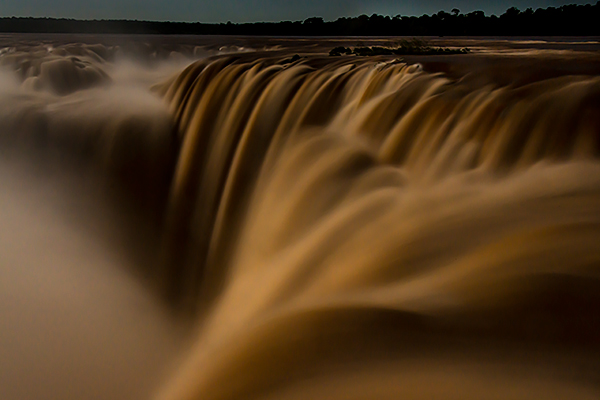 Moonlight on Devil's Throat, Iguazu Falls© 2013 Bob Harvey