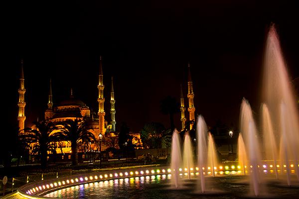 Blue Mosque at night©2013 Bob Harvey