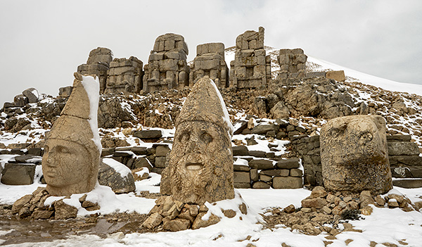 The heads of the gods, stood up in front of the bodies...© 2013 Bob Harvey