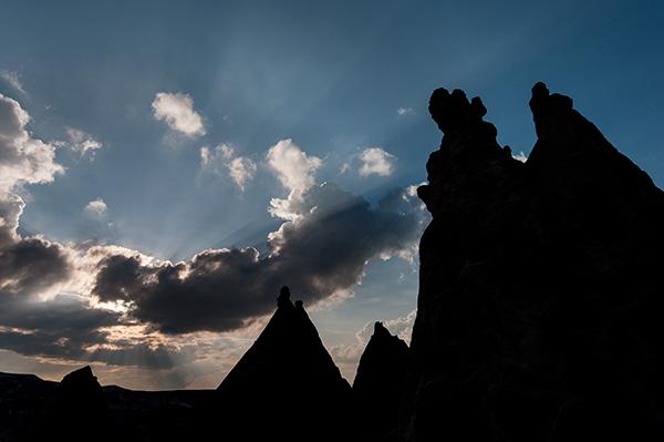 Cappadocia sunburst© 2013 Bob Harvey