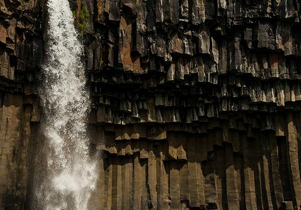 Falling water and basalt columns©Bob Harvey 2013