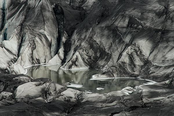 Pool at the foot of a glacier©2013 Bob Harvey