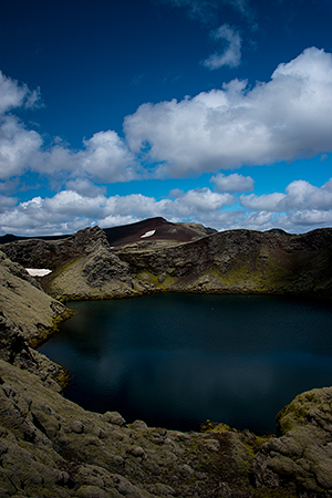 A hidden crater lake©Bob Harvey, 2013