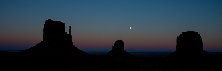 Mittens moonrise/sunset 2 © 2013 Bob Harvey
