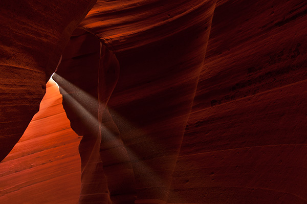 Rays in Lower Antelope Canyon © 2013 Bob Harvey