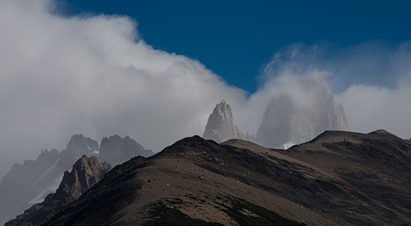 Clouds part and reveal the Fitzroy Massif, Argentina© 2014 Diane Kelsay