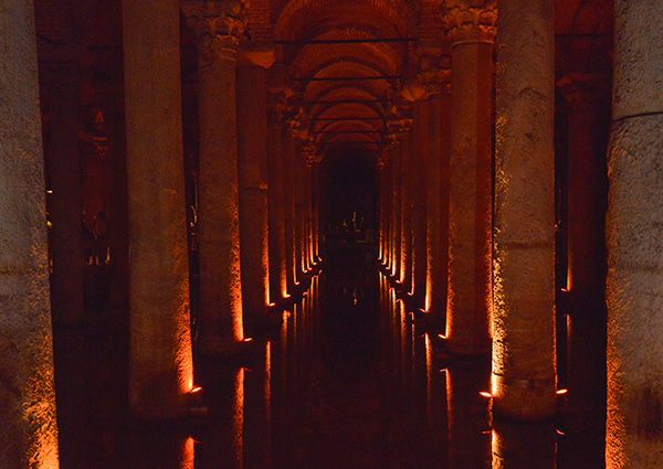 Underground Cistern, where the Romans stored water, should the enemy destroy the aqueducts through the city trying to cut off their water supply. © 2014 Diane Kelsay