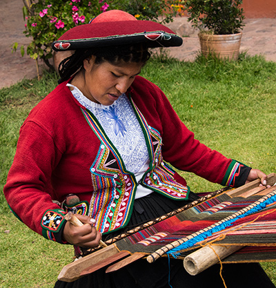 Chinchero - a village famous for its weavers and traditional weaving style. © 2016 Diane Kelsay