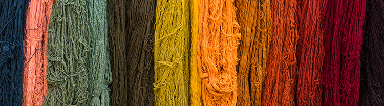 Yarn dyed with natural dyes from plants © 2016 Diane Kelsay