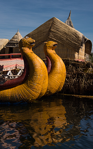 The famous reed island of Uros © 2016 Diane Kelsay